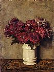 Johannes Evert Akkeringa - Chrysanthemums In a Vase