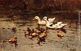 Johannes Frederik Hulk - Ducks Having A Swim