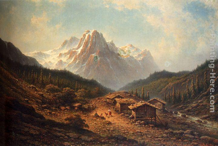 Johannes Hilverdink A Summer Day In The Alps