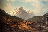 Johannes Hilverdink A Summer Day In The Alps painting