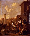 Johannes Lingelbach - Peasant Family Having Bread And Wine, The Campo Vaccino, Rome, Beyond