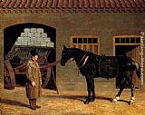 Horse Wall Art - A Cart Horse And Driver Outside A Stable