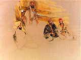 Famous Mount Paintings - A Bedouin Encampment, Mount Sinai