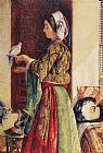 John Frederick Lewis - Girl with Two Caged Doves