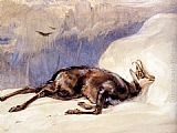 John Frederick Lewis - The Chamois, Sketched In The Tyrol
