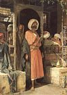 John Frederick Lewis - The Door of a Café in Cairo