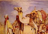 John Frederick Lewis - The Greeting in the Desert, Egypt