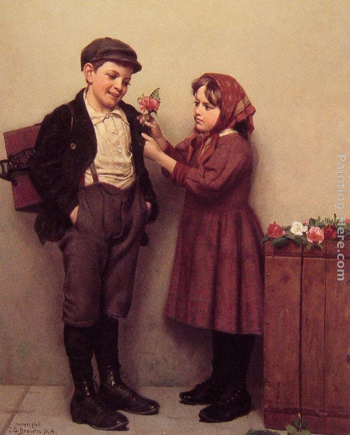 John George Brown The Button Hole Posy