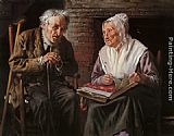 John George Brown Old Memories painting