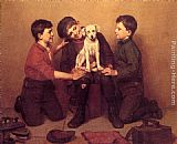 John George Brown The Foundling painting