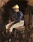 John Lavery - A Portrait of Joe Childs, the Rothschild's Jockey