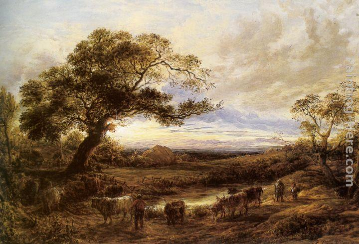 John Linnell Harvest Time in Sussex