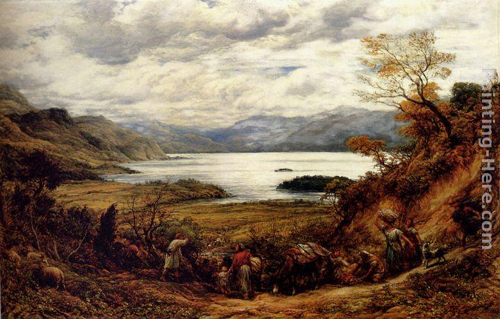 John Linnell The Emigrants, Derwent Water, Cumberland