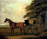 Famous Horse Paintings - A Horse And Carriage In A Landscape