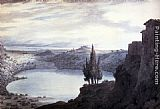 Famous Lake Paintings - Lake Nemi, Campagna, Italy