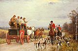 John Sanderson Wells - A Hunt Passing a Coach