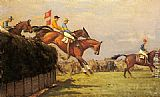 John Sanderson Wells - The Grand National Steeplechase Really True and Forbia at Beecher's Brook