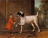 John Wootton - A Favorite Poodle And Monkey Belonging To Thomas Osborne, The 4th Duke of Leeds