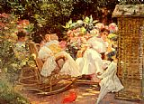 Jose Villegas y Cordero - Ladies In A Garden