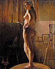 Nude Canvas Paintings - Standing Nude
