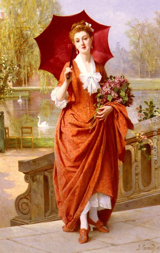 Joseph Caraud The Red Parasol