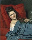 Joseph-Desire Court - Half-length Woman Lying on a Couch