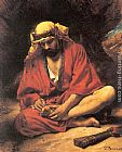 Leon Bonnat - An Arab removing a thorn from his foot