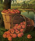 Tree Wall Art - Bushels of Peaches Under a Tree