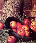 Levi Wells Prentice Still Life of Apples in a Hat painting