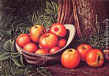 Cap Canvas Paintings - Still Life with Apples in a New York Giants Cap