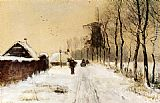 Louis Apol - Wood Gatherers On A Country Lane In Winter