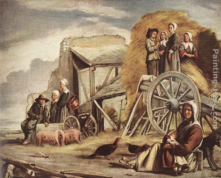 Louis Le Nain The Cart or Return from Haymaking