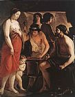 Louis Le Nain Venus at the Forge of Vulcan painting