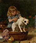Louis Marie de Schryver - Bath Day