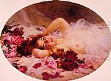 Louis Marie de Schryver - Beauty amid Rose Petals