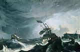 Ludolf Backhuysen - Ships in Distress in a Heavy Storm