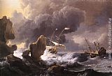 Ludolf Backhuysen - Ships in Distress off a Rocky Coast