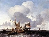 Ludolf Backhuysen - Ships on the Zuiderzee before the Fort of Naarden