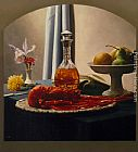 Luis Jose Estremadoyro - Still Life with Bourbon and Lobster