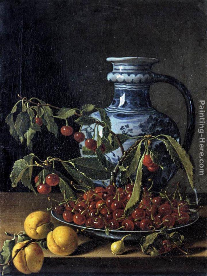 Luis Melendez Still-Life with Fruit and a Jar