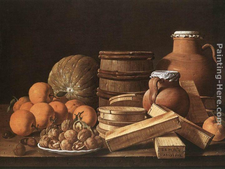 Luis Melendez Still-Life with Oranges and Walnuts