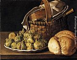 Luis Melendez Still-Life with Figs painting