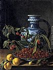 Luis Melendez Still-Life with Fruit and a Jar painting