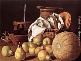 Luis Melendez - Still-Life with Melon and Pears
