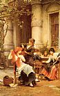 Luke Fildes Alfresco painting
