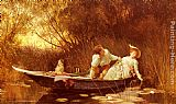Luke Fildes Simpletons, The Sweet River painting