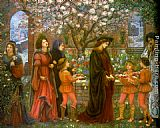 Maria Spartali Stillman The Enchanted Garden of Messer Ansaldo painting