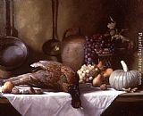 Maureen Hyde - Still Life with Pheasant and a Basket of Fruit