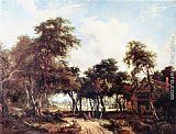 Meindert Hobbema - Landscape with Woods and Cottage