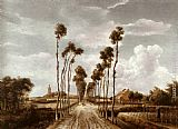 Meindert Hobbema - The Alley at Middelharnis